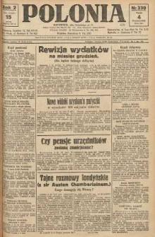 Polonia, 1925, R. 2, nr 330