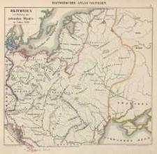 Geschichte Polens von Joachim Lelewel: Atlas enthaltend die chronologischen und genealogischen Tafeln und die geographischen karten der verschiedenen Zeiträume - mapy