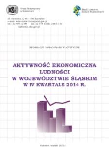 Aktywność ekonomiczna ludności w województwie śląskim w 4 kwartale 2014 r.