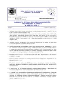 Komunikat o sytuacji społeczno-gospodarczej województwa śląskiego, 2014, nr 4