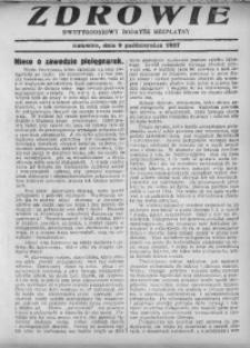 Zdrowie, 19 sierpnia 1927