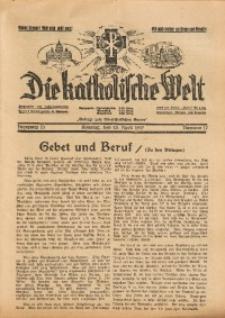 Die Katholische Welt, 1937, Jg. 13, Nr. 17