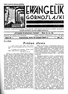 Ewangelik Górnośląski, 1937, R. 6, nr 7