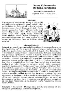 Nasza Kolonowska Rodzina Parafialna 2019, nr 14 (1319).