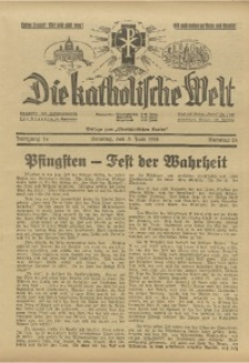 Die Katholische Welt, 1938, Jg. 14, Nr. 23