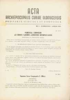 Acta Archiepiscopalis Curiae Olomucensis pro parte Sudetica et Borussica 1943, nr 4.