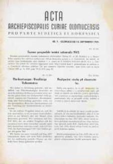 Acta Archiepiscopalis Curiae Olomucensis pro parte Sudetica et Borussica 1943, nr 9.