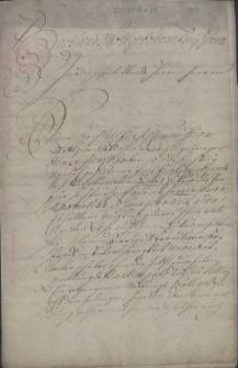 Pismo Żyda Mojżesza Salomona (bd., praes. 4.09.1724 r.), do Książęcej Komisji w sprawie strat finansowych, jakie poniósł na skutek sprzedaży dóbr Żuków przez dotychczasowego właściciela Maksymiliana barona von Saintgenois de Annaucourt w trakcie trwania kontraktu dzierżawy miejscowej arendy wódczanej