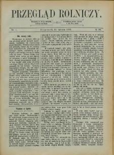 Przegląd Rolniczy, 1889, Nry 1-12