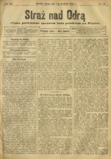 Straż nad Odrą, 1912, R. 12, nr 42