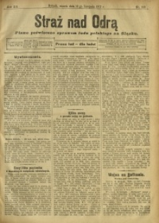 Straż nad Odrą, 1912, R. 12, nr 139
