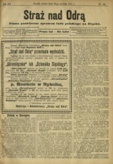 Straż nad Odrą, 1912, R. 12, nr 155
