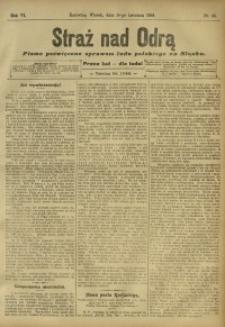Straż nad Odrą, 1908, R. 6, nr 45