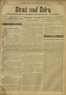 Straż nad Odrą, 1908, R. 6, nr 101