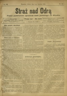Straż nad Odrą, 1908, R. 6, nr 107