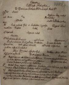 Examen Candidati Scholastici ad Tyrocinium Societatis Jesu suscepti Anno 17--