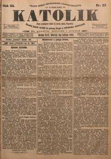 Katolik, 1899, R. 32, nr 22