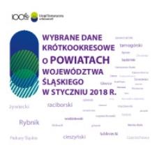 Wybrane dane krótkookresowe o powiatach województwa śląskiego w styczniu 2018 r.