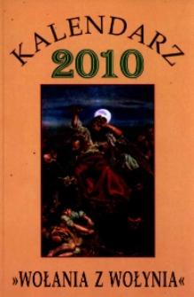"""Kalendarz 2010 """"Wołania z Wołynia""""."""