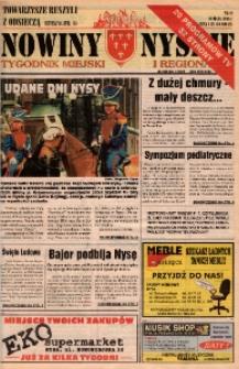 Nowiny Nyskie : tygodnik miejski i regionalny 1996, nr 22.