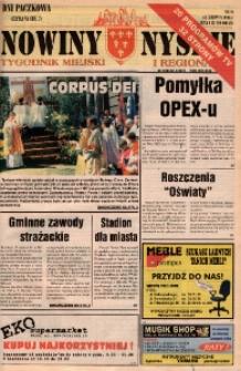 Nowiny Nyskie : tygodnik miejski i regionalny 1996, nr 24.
