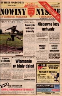 Nowiny Nyskie : tygodnik miejski i regionalny 1996, nr 25.