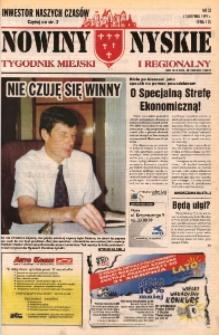 Nowiny Nyskie : tygodnik miejski i regionalny 1997, nr 33 [32].