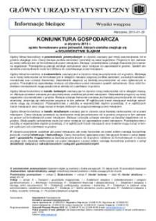 Koniunktura gospodarcza w styczniu 2013 r. opinie formułowane przez jednostki, których siedziba znajduje się w województwie śląskim