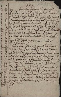 Luźne notatki, m.in. ręką Leopolda Jana Szersznika, dotyczące gwiazd, dni w roku itp