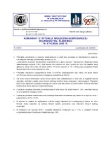 Komunikat o sytuacji społeczno-gospodarczej województwa śląskiego, 2013, nr 1