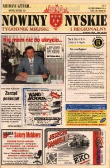 Nowiny Nyskie : tygodnik miejski i regionalny 1996, nr 41.