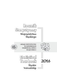 Rocznik Statystyczny Województwa Śląskiego, 2016