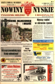 Nowiny Nyskie : tygodnik miejski i regionalny 1996, nr 44.