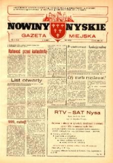 Nowiny Nyskie : gazeta miejska 1992, nr 6 (714).