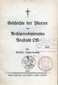 Geschichte der Pfarrer des Archipresbyterates Neustadt OS.