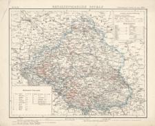Karte IX Regierungsbezirk Oppeln. Verbreitung der Cholera im Jahr 1866