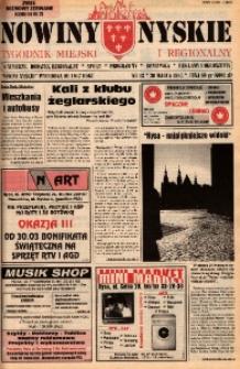 Nowiny Nyskie : tygodnik miejski i regionalny 1995, nr 13.