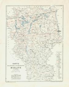 Karte des politischen und Schulbezirkes Bielitz (Land)