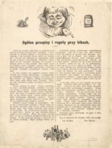 Ogólne przepisy i reguły przy bibach