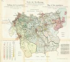Karte der Bevölkerung des ostmährisch-schlesische Industriegebietes nach den amtlichen Volkszählungsergebnissen vom Jahre 1910