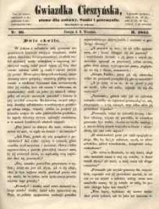 Gwiazdka Cieszyńska, 1855, nr 36