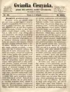Gwiazdka Cieszyńska, 1855, nr 44
