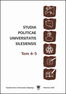 Studia Politicae Universitatis Silesiensis. T. 4-5