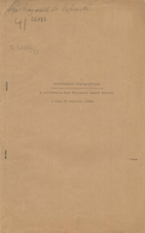Sprawozdanie stenograficzne z posiedzenia Rady Miejskiej miasta Katowic z dnia 28 kwietnia 1933 r.
