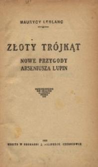 Złoty trójkąt. Nowe przygody Arseniusza Lupin