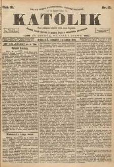 Katolik, 1898, R. 31, nr 15