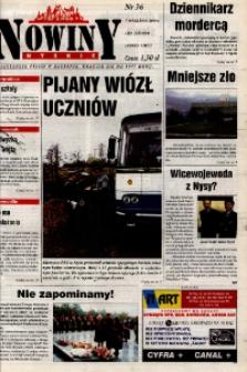 Nowiny Nyskie 2000, nr 36.