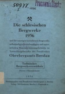 Die Schlesischen Bergwerke, 1936