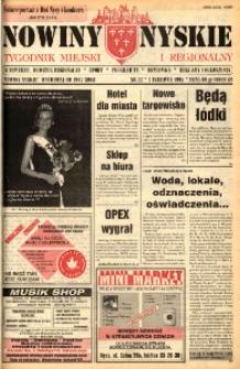 Nowiny Nyskie : tygodnik miejski i regionalny 1995, nr 22.