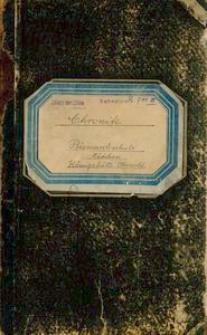 Chronik der evangelischen Schule zu Ober-Heiduk. Angelegt am 1. Januar 1885